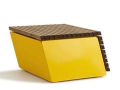 VESTRE, CODE TILT Panchina componibile modulare in acciaio e legno