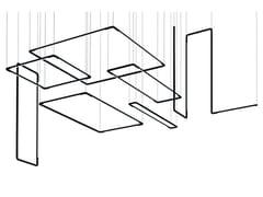Sistema componibile a sospensione in alluminioCOLIBRÌ Q - MARTINELLI LUCE