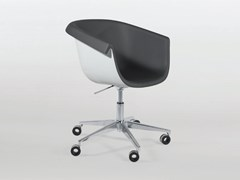Sedia girevole in poliuretano ad altezza regolabile con braccioli COLLIER DESK - Collier