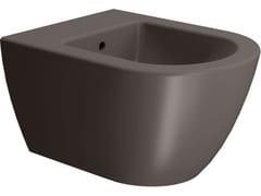 Bidet filo parete sospeso in ceramicaCOLOR ELEMENTS 50X36 | Bidet - GSI CERAMICA