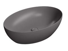 Lavabo ovale in ceramicaPURA 60/TA - GSI CERAMICA