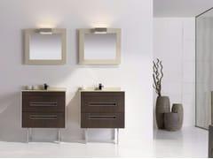 Mobile lavabo in MDF con cassetti e con specchio COLORS CUOIO 07 - Colors