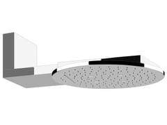 Soffione doccia a muro in acciaio con cromoterapia COLOUR TONDO 40523 - Colour