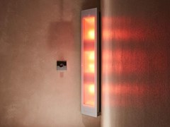 Doccia solare a raggi UV e infrarossi angolareCOMBI | White - SUNSHOWER