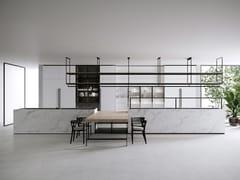 Cucina in marmo di Carrara con isolaCOMBINE EVOLUTION - BOFFI