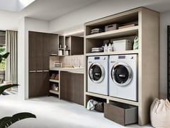 Mobile lavanderia componibile in legnoREGOLA COMP.5 - CERASA