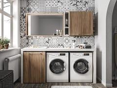 Cerasa, REGOLA COMP.7 Mobile lavanderia in legno con lavatoio