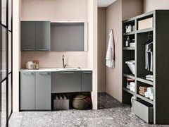 Cerasa, REGOLA COMP.8 Mobile lavanderia componibile in legno