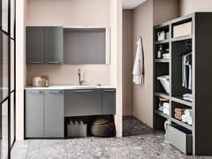 Mobile lavanderia componibile in legnoREGOLA COMP.8 - CERASA