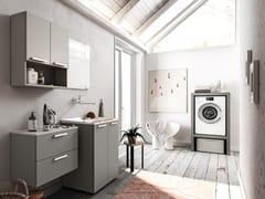 Mobile lavanderia componibile in legnoREGOLA COMP.9 - CERASA