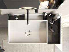 Lavabo da appoggio rettangolare con opening system e vascheCOMPACT LIVING | Lavabo da appoggio - REXA DESIGN