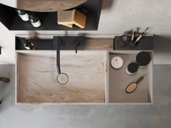 Lavabo in Corian in appoggioLAVABO CON ORGANIZER - REXA DESIGN