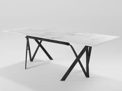 Tavolo da pranzo rettangolare in marmoCOMPASSO | Tavolo rettangolare - BAREL