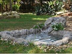ARTMAN ITALIANA, LAGHETTI ARTIFICIALI COMPOSTI Fontana in pietra ricostruita con cascata