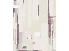 Tappeto rettangolare fatto a mano in lana e setaCOMPOSITION V.II - TAPIS ROUGE