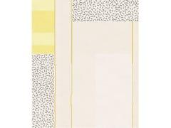 Tappeto rettangolare fatto a mano in lana e setaCOMPOSITION XIX - TAPIS ROUGE