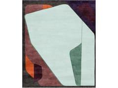 Tappeto rettangolare fatto a mano in lana e setaCOMPOSITION XV.I - TAPIS ROUGE
