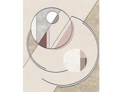 Tappeto rettangolare fatto a mano in lana e setaCOMPOSITION XVI.II - TAPIS ROUGE