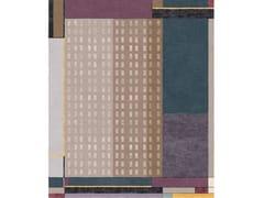 Tappeto rettangolare fatto a mano in lana e setaCOMPOSITION XVII - TAPIS ROUGE