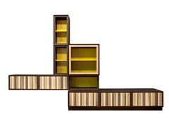 Parete attrezzata modulare in ciliegio MODULO ZERO   Parete attrezzata modulare - Zero