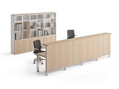 Banco reception per ufficio in legno impiallacciatoCONCEPTO FREE | Banco reception per ufficio - OFIFRAN