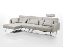 Divano trasformabile in tessuto con chaise longue CONCERT | Divano trasformabile - Concert