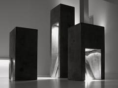 Lampada da terra per esterno a LED in cementoCONCRETE - VIABIZZUNO