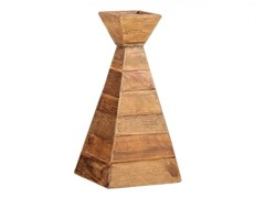 Portacandele in legno masselloCONE - ARREDIORG