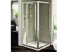 Box doccia in vetro temperato con porta a soffietto CONNECT - mod. PS - Connect