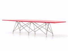 Tavolo da riunione rettangolare in cuoio CONSILIUM | Tavolo da riunione rettangolare - Consilium