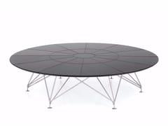 Tavolo da riunione rotondo in cuoio CONSILIUM | Tavolo da riunione rotondo - Consilium