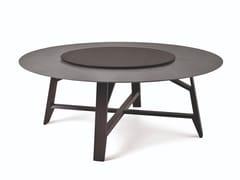 Tavolo rotondo in rovere e marmo con vassoio girevoleCONTROVENTO   Tavolo - FORMER / BUSNELLI S.P.A. A SOCIO UNICO