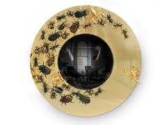 Specchio rotondo in ottone da parete con corniceCONVEX METAMORPHOSIS - BOCA DO LOBO
