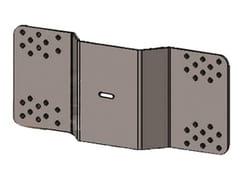 FT, COPPIA PIASTRE FISSAGGIO SU LAMIERA Modulo per scala in alluminio