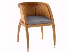 Sedia da giardino in teak con braccioliCOQUELICOT | Sedia con braccioli - ASTELLO BY THIERRY MASSANT