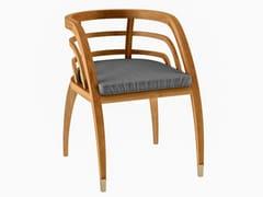 Sedia da giardino in teak con braccioli COQUELICOT | Sedia con braccioli - Coquelicot