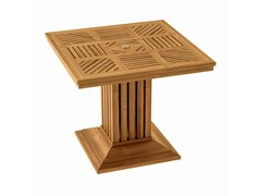Tavolo da giardino quadrato in teak COQUELICOT | Tavolo quadrato - Coquelicot