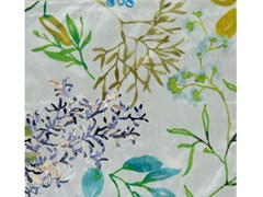 Tessuto in seta con motivi floreali per tendeCORAL EMBROIDERY SILK - ALDECO, INTERIOR FABRICS
