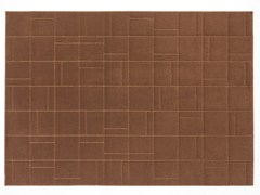 Tappeto a tinta unita rettangolare in lanaCORBU - CASALIS