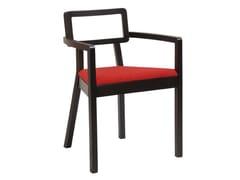 Sedia con braccioli con cuscino integrato CORDOBA | Sedia in legno - Cordoba