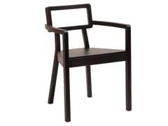 Sedia in legno con braccioli con schienale aperto CORDOBA | Sedia con schienale aperto - Cordoba