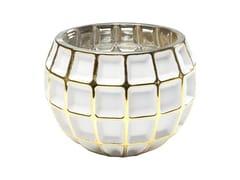 Portacandele in vetro colorato CORDOBA W&G SQUARE -