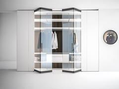 Armadio con apertura totale in legno e vetroCORE | Armadio in legno e vetro - CACCARO