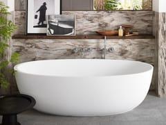 Vasca da bagno centro stanza ovale in Corian® CORIAN® DELIGHT 8430 -