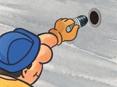 Tappo a tenuta per distanziatori di cassero tubolari in PVC CORKSEAL T21 - PROSEAL