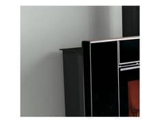 LA NORDICA EXTRAFLAME, CORNICE CRYSTAL Cornice in cristallo nero