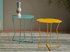 Tavolino da giardino rotondo in metalloCOROLLA - MEMEDESIGN