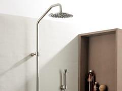 MINA, CORSIVO 01150711-200H8 Colonna doccia a parete termostatica in acciaio inox con doccetta