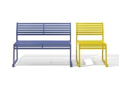 Panchina in metallo con schienaleCORTINA 026 | Panchina - URBANTIME