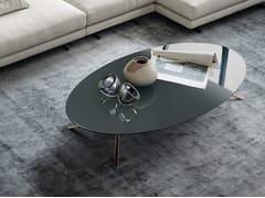 Tavolino basso ovale rotondo in marmo MONDRIAN | Tavolino ovale - Mondrian